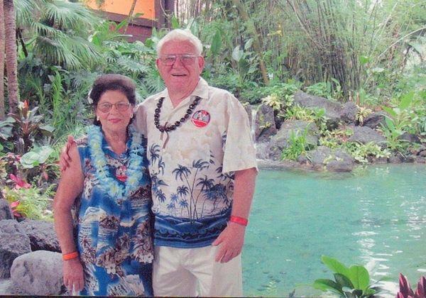 JoAnn and Joe Lever of Hampton Bays celebrated