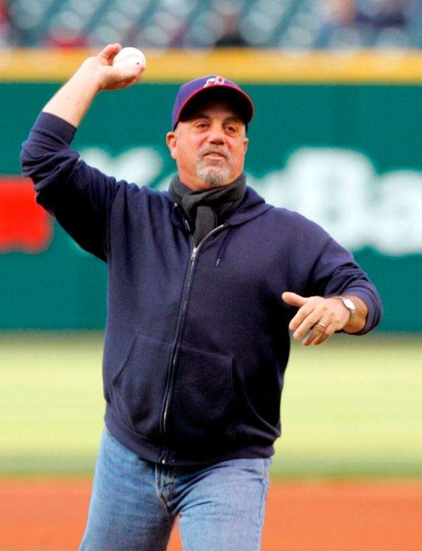 April 13, 2007: Billy Joel throws the ceremonial