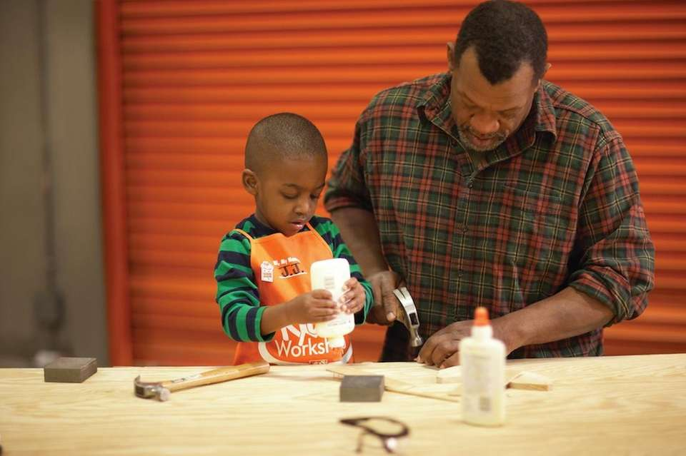 At Home Depot, kids can channel their creativity