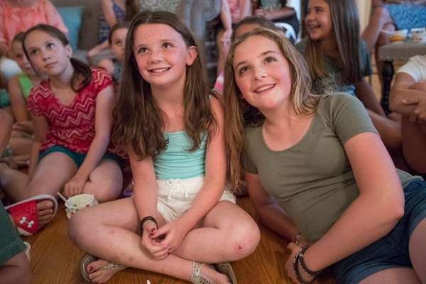 Lauryn Mitchell, 10, left, and sister Kayla, 13,