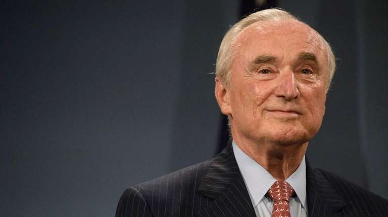 NYPD Commissioner William Bratton attends a news conference