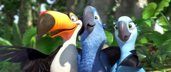 Toucans, macaws and more made up the animated