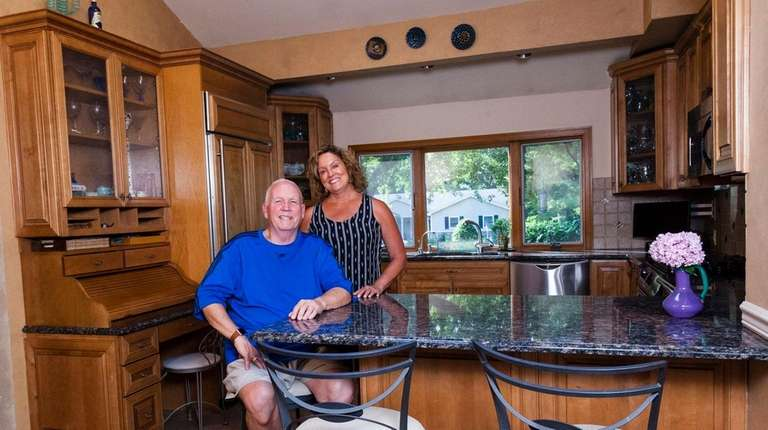 Bob and Leslie Speed in the eat-in kitchen