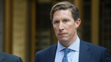 Sean Stewart exits a federal courthouse in Manhattan