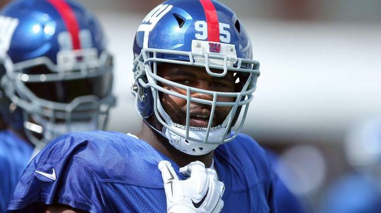 New York Giants defensive tackle Johnathan Hankins (95)