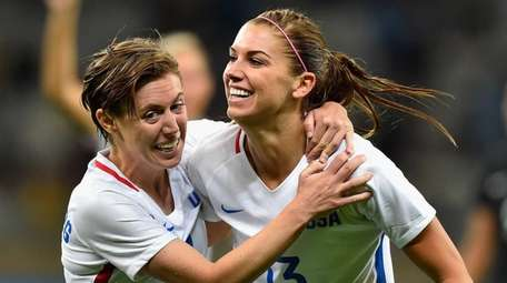 Alex Morgan #13 of the United States and