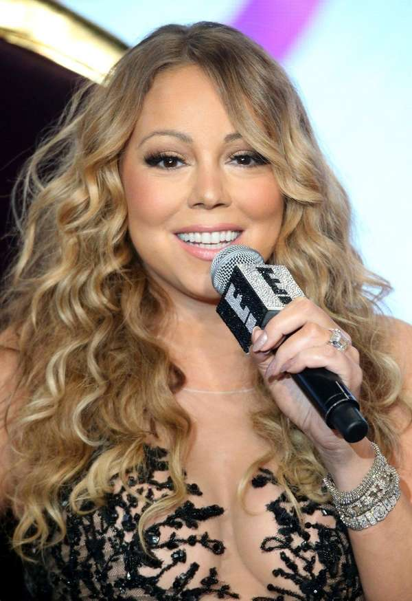 Mariah Carey takes questions at the