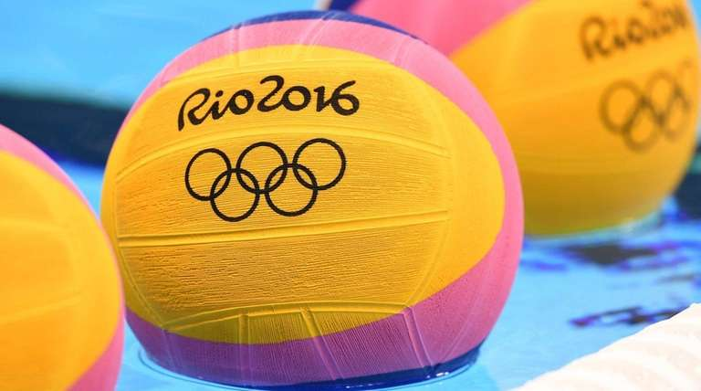 Water polo balls with the Rio 2016 logo