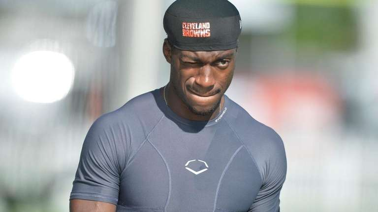 Cleveland Browns quarterback Robert Griffin III at training