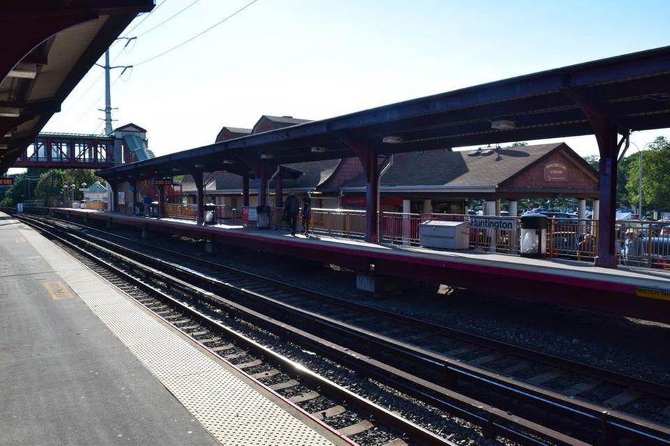 The Huntington train station as seen on Aug.