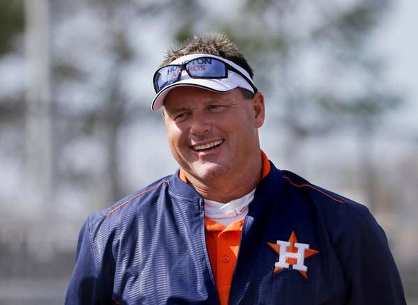 Former Houston Astros pitcher and current special assistant