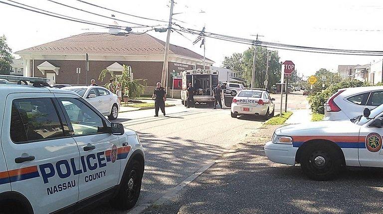 Nassau County police respond to Neptune Avenue and