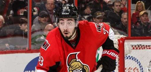 Mika Zibanejad of the Ottawa Senators skates against