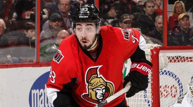 Mika Zibanejad of the Ottawa Senators skates against