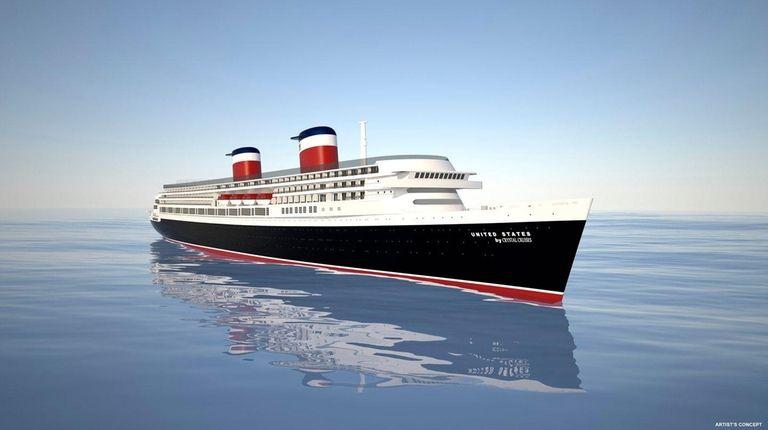 An artist rendering of the redeveloped ocean liner