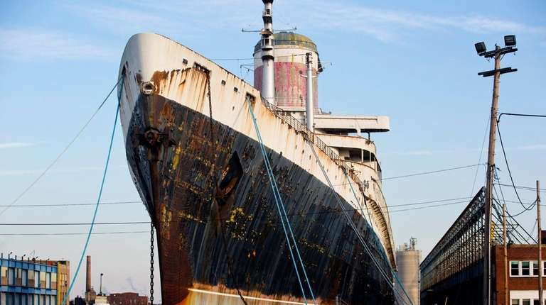 The ocean liner SS United States, currently docked