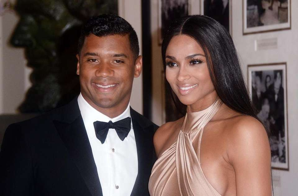 R&B singer Ciara and Seattle Seahawks quarterback Russell