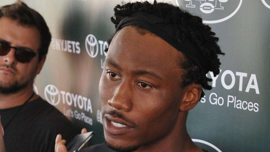 Brandon Marshall #15, New York Jets wide receiver,