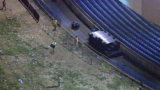 This photo provided by NBC10 shows caution tape