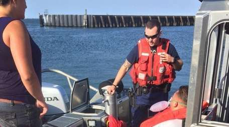 Crew from Coast Guard Station Fire Island rescued