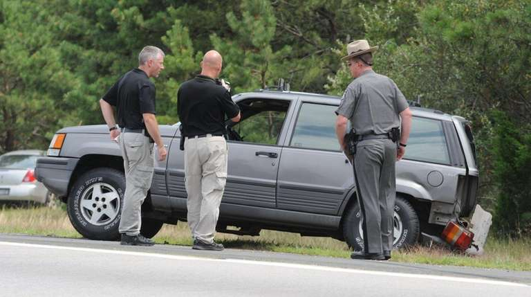 State Police investigate Saturday, Aug. 6, 2016, after