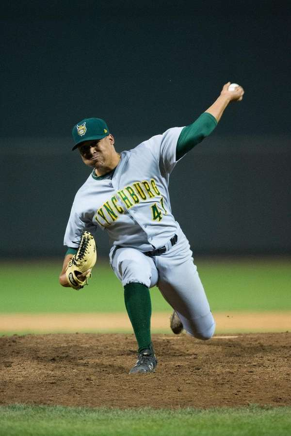 Lynchburg Hillcats starting pitcher Justus Sheffield (41) in