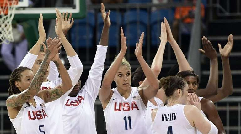 From left, USA forward Seimone Augustus, small forward