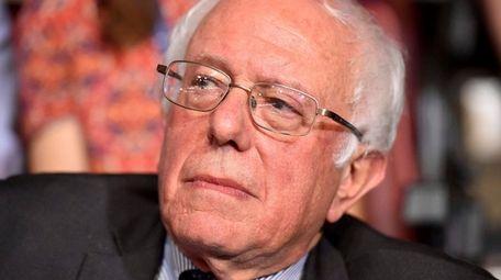 Sen. Bernie Sanders looks on after the Vermont