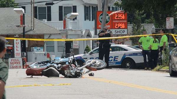 A motorcyclist was seriously injured in a crash