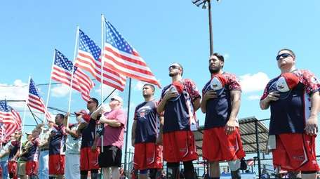Members of the Wounded Warrior Amputee Softball Team