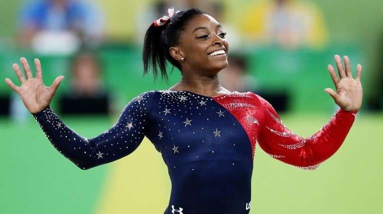 Simone Biles of the United States competes on