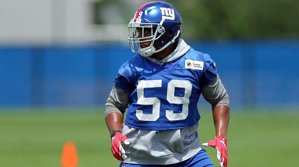 New York Giants linebacker Devon Kennard (59) drops