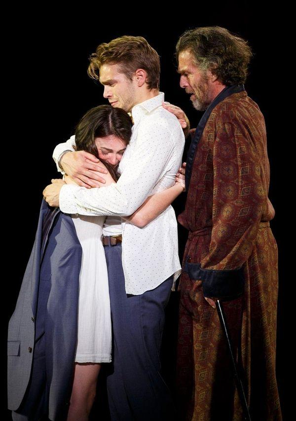 Ismenia Mendes, left, Andrew Burnap and John Glover