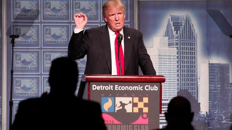 DETROIT, MI - AUGUST 8: Republican presidential candidate