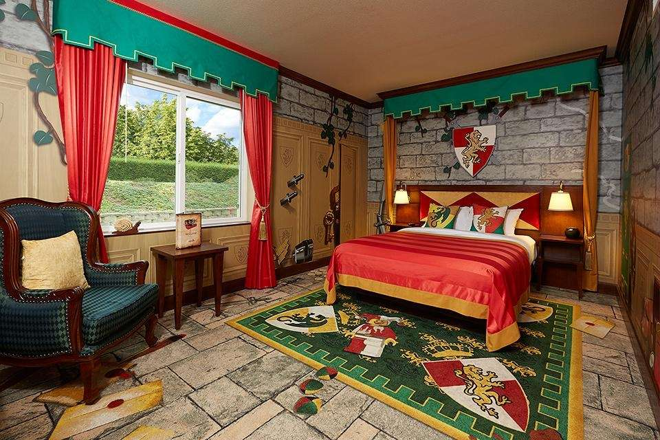 The Kingdom-themed room at Legoland Hotels in Carlsbad,