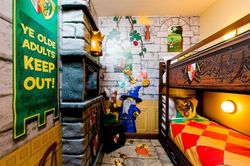 The Legoland theme rooms start at around $100