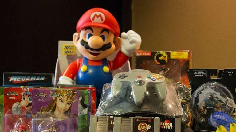 A Mario figure and other items await at