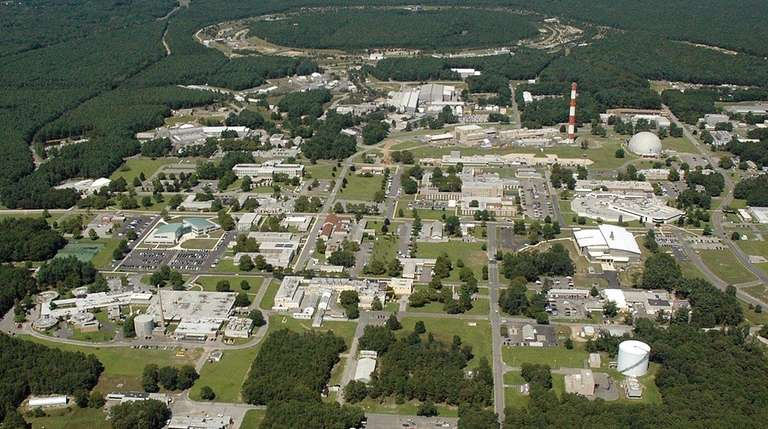 An aerial view of Brookhaven National Laboratory in