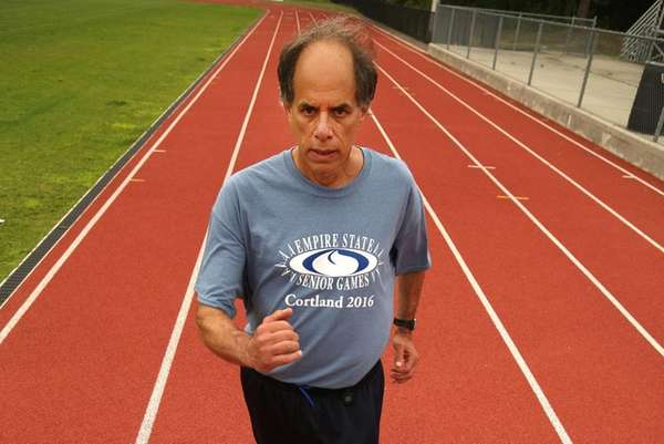 Marty Fox, 62, practices race walking on