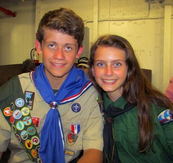 Sydney Ireland, 15, right, with her brother Bryan