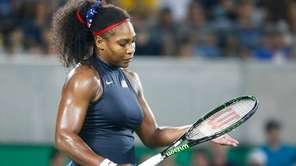 Serena Williams of the US during the women's