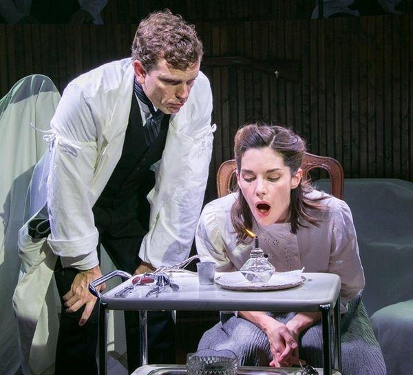 Paul Alexander Nolan drills Kelli Barrett on her
