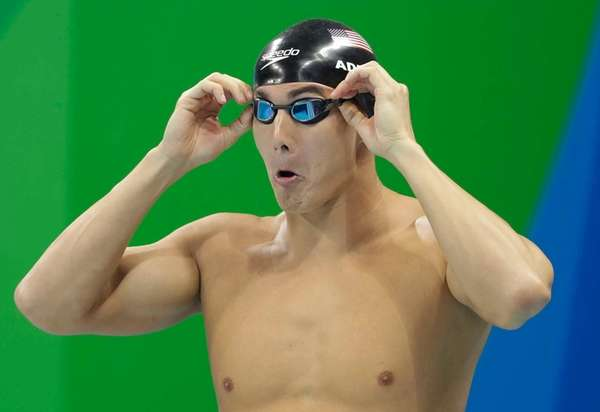 The United States' Nathan Adrian prepares to compete