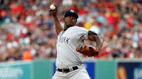 New York Yankees' Luis Severino delivers against the