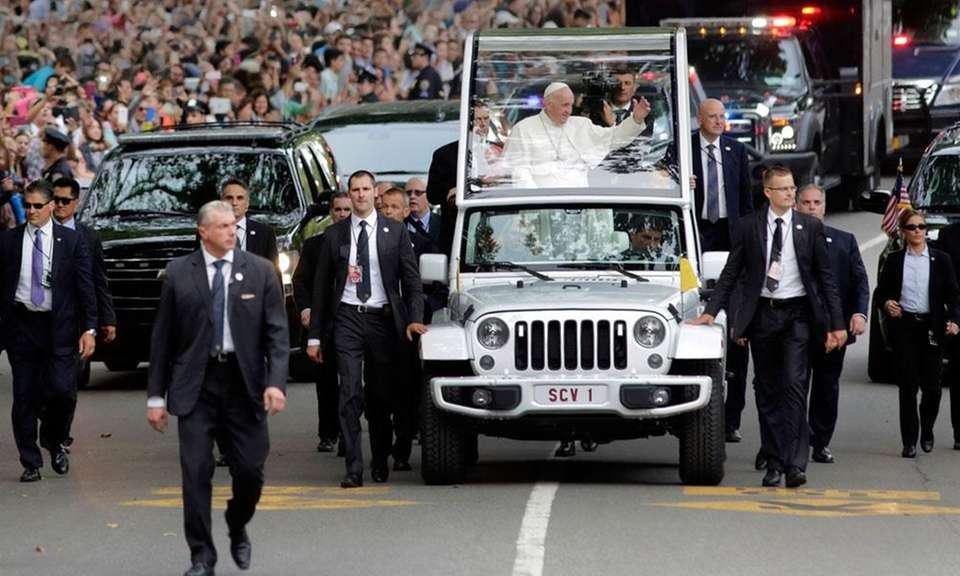 During Pope Francis' visit to the United States