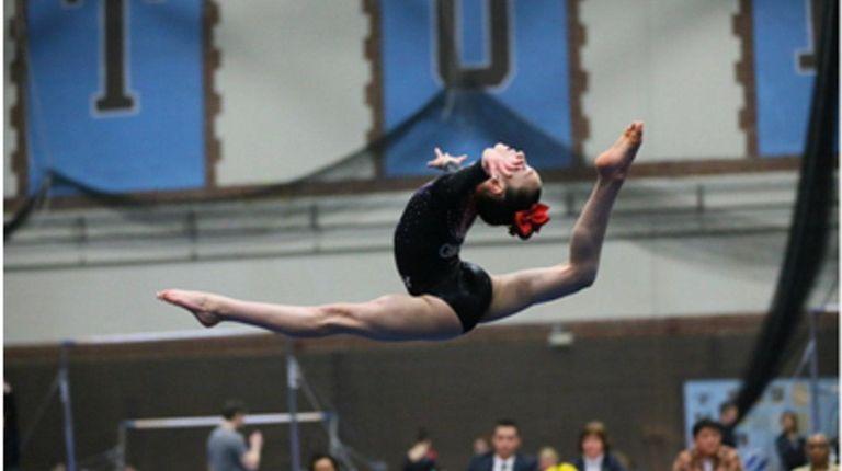 Kidsday reporter Ariel Posen performs in a gymnastics