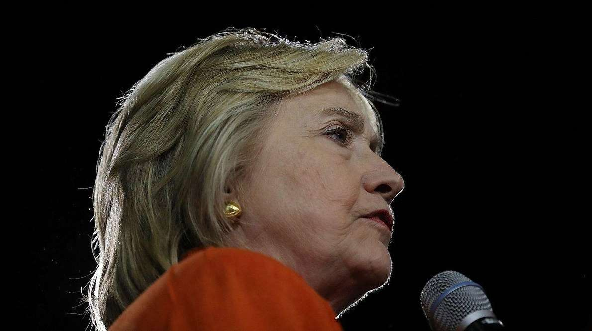 Democratic presidential nominee Hillary Clinton attends a campaign