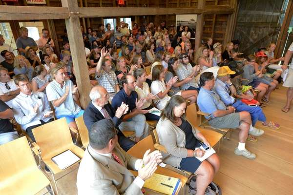 Around 100 people attended the East Hampton Town