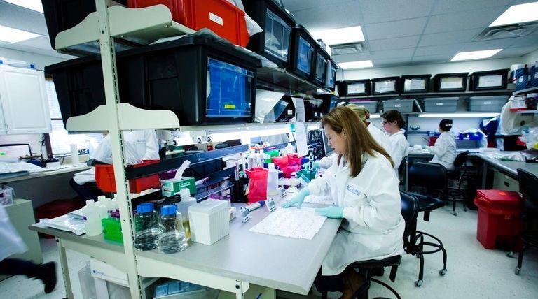 A Chembio Dignostics lab in Medford on Feb.