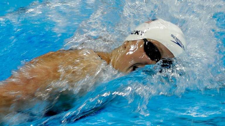 The United States' Katie Ledecky competes in a